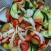 Simple Russian Cucumber and Tomato Salad