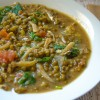 Ginisang Munggo With Dilis (Sauteed Mung Beans With Salted Dried Anchovies)